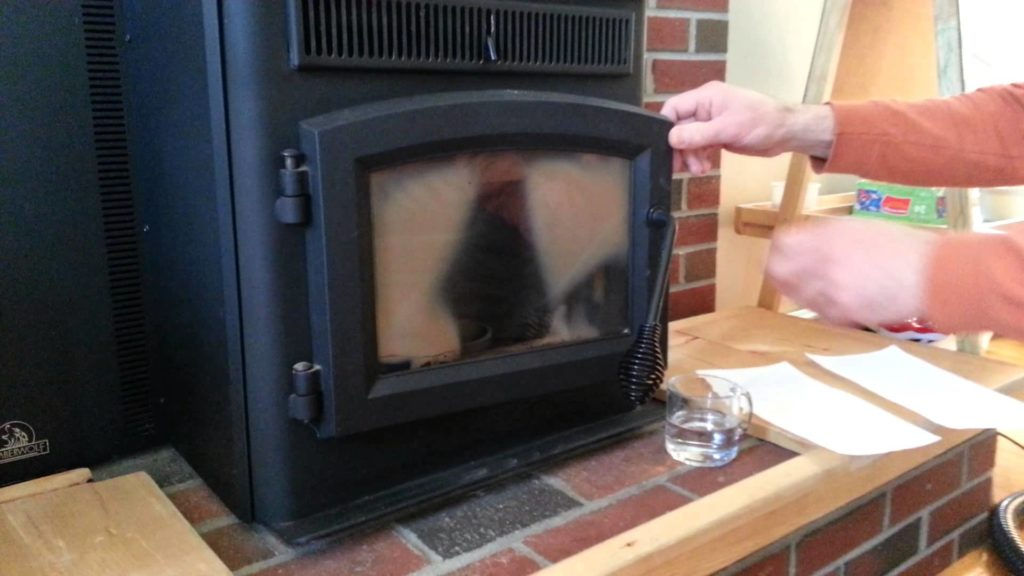 How to clean Pellet stove glass