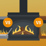 Gas vs wood vs electric fireplace : Which Fireplace is Best for You?