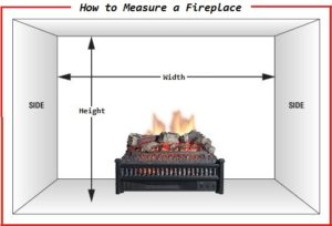 electric fireplace insert measurements
