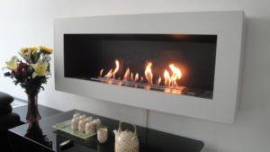 wall mounted ethanol fireplace