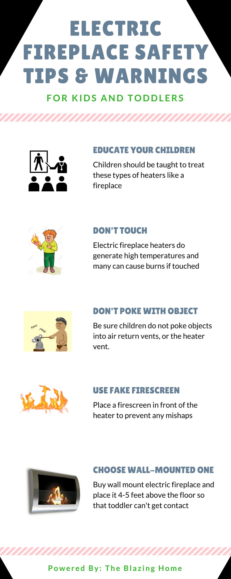 Kids Safety Tips Electric Fireplace