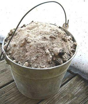 Ash in bucket
